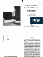 Hilbert, Grundlagen der Geometrie
