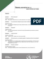 Selección de lecturas Ev Talento 2011-1