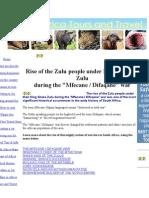 Rise of the Zulu People Under King Shaka Zulu