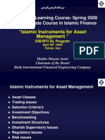 Islamic Instruments for Asset Management