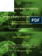 Risks in the Islamic Modes of Financing and the Methods Available for Their Management 2