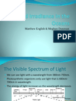 Biology 3709 - Light and Irradiance in the Oceans