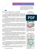 Boletín Especial de la Fraternidad Sacerdotal San Pedro En Colombia