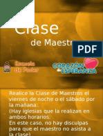 6 Clase de Maestros