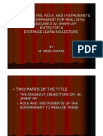 The role objectives and instrumentsof the government for helping realize the Maqasid alShari'ah in an Islamic economy2