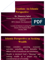 Wealth Creation and Wealth Management in an Islamic Economy