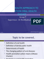 Public Health Approaches to Prevention of Oral Diseases