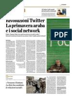 Rivoluzioni Twitter. La primavera araba e i social network
