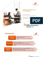 Share Point Projects With SAP Integrations