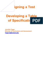 Designing a Test