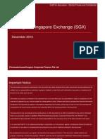 Listing on SGX