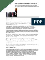 11 Bastiones Que PAN y PRD Deben Recuperar Para Vencer Al PRI
