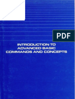 Introduction to Advanced Basic Commands and Concepts