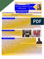 5th Year Ministry Celebration Flyer