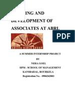 Training Development of Associates at Abrl