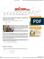 10-05-11 Urge Recuperar Al Pais de Politicas Economicas Erroneas