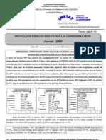 Indices des prix à la consommation - Janvier 2008 (INSTAT - 2008)