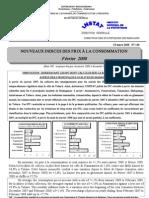Indices des prix à la consommation - Fevrier 2008 (INSTAT - 2008)