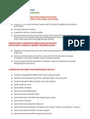 Tips Perkahwinan Kelantan Prosedur Permohonan Berkahwin Atas