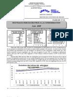 Indices des prix à la consommation - Juin 2008 (INSTAT - 2008)