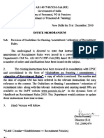 DOPT O.M. No.AB.14017/48/2010-Estt.(RR) dated 31.12.2010