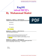 ENG101 Solved MCQ's by Shahid