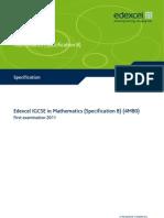 IGCSE2009 Mathematics SpecB (4MB0) Specification