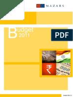 Budget 2011 - Mazars