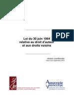 Belgium-Loi sur le droit d'auteur et les droits voisins-Version coordonnée-FR