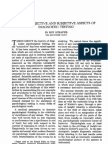 004-007 on the Objective and Subjective Aspects of Diagnostic Testing