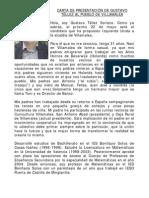 Carta de presentación de Gustavo Téllez al pueblo de villamalea