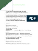 Web Application Testing Checklist