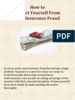 How to Protect Yourself From Auto Insurance Fraud