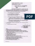 Order & Corrigendum Regarding Constitution of Committee on Restructuring of RBSSS Cadre