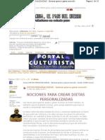 FABRICACION DIETA PERSONALIZADA