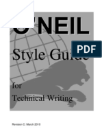 Oneil Style Guide