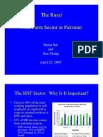 Non Farm Economy in Pakistan