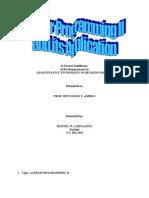 Narrative Report in Linear Programming