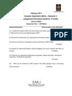 MC0076 Management Information Systems Assignement Feb 11