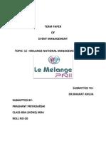 Term Paper of Event Management-prashant Priyadarshi Roll No-20