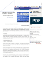 ORGANIZAÇÃO DA JUSTIÇA ELEITORAL NO BRASIL