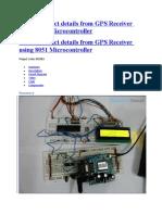 GPS Receiver Using 8051 Micro Controller