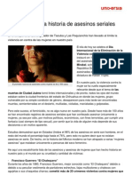 Feminicidio Historia Asesinos Seriales