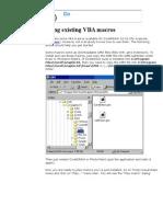 Using Existing VBA Macros