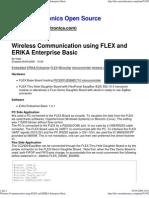 Wireless Communication using FLEX and ERIKA Enterprise Basic