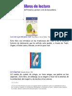 LIBROS DE  LECTURA PARA PRIMARIA Y ESO