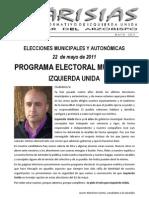 Programa Electoral EUPV Villar del Arzobispo 2011