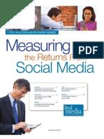 Mesuring the Returns From Social Media