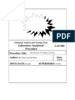 Chemical Analysis and Testing Task Laboratory Analytical Procedure