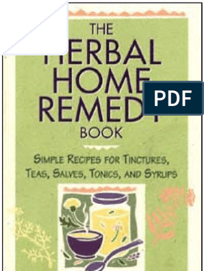Herbal Home Remedy Book | Herbalism | Alternative Medicine
